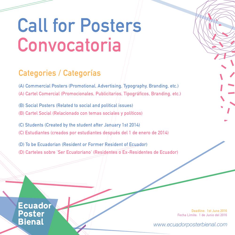 Ecuador Poster bienal convocatoria
